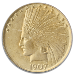 $10 Gold Indian coin