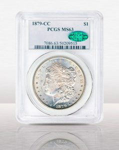 1879 CC Morgan $1 MS62 CAC