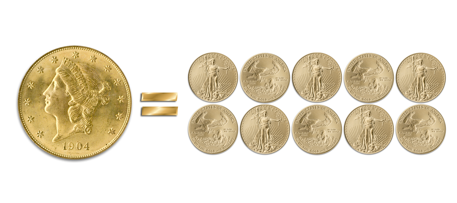 Purchase a $14,500 rare coin, receive ten $5 American Gold Eagles