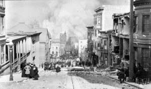 Great Earthquake of 1906 and the fire on Sacramento Street