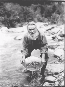 California gold miner, circa 1850s