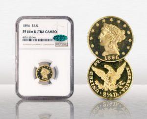 1896 $2 ½ Liberty NGC PR66 Ultra Cameo CAC - $36,042