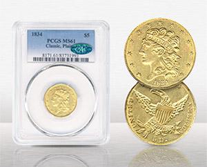 1834 $5 Classic – Plain 4 - $6,344