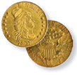 Capped Bust to Right Heraldic Eagle Half Eagle
