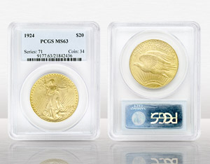 $20 Saint Gaudens No Motto MS63 Certified