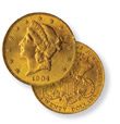 $20 Liberty Double Eagle Gold Coin