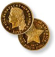 Liberty Gold Dollar Type I Gold Coin