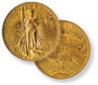 "Saint Gauden's Double Eagle ""No Motto"" Gold Coins"