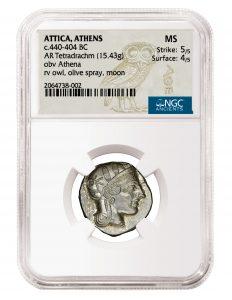 Athenian Owl Tetradrachm NGC MS