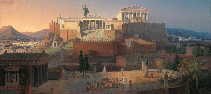 The Acropolis at Athens (1846) by Leo von Klenze.