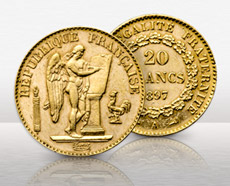 French Gold 20 Franc Angel Coin