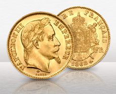 French Gold 20 Franc Napoleon Coin