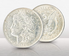 1921 Circulated Morgan Dollar 10 Coin Group Set