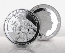 1 Kilo Australian Silver Kookaburra Coin