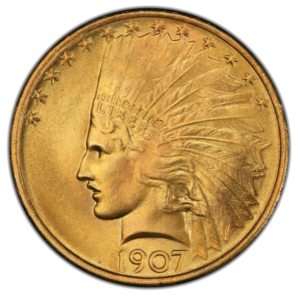 1907 $10 Indian Head