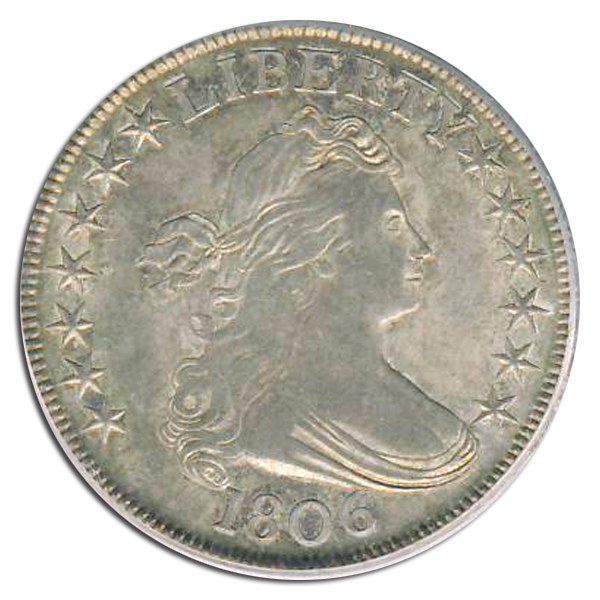 1806 Draped Bust Half Silver Dollar