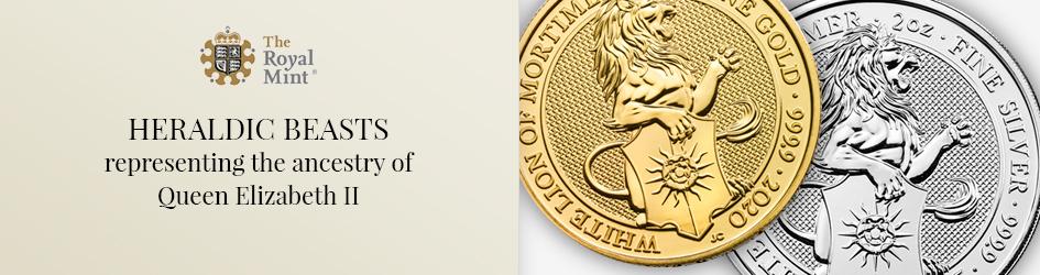 Heraldic beasts representing the ancestry of Queen Elizabeth II