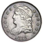 1895 Capped Bust Dime - obverse