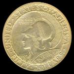 1915-S $50 Panama Pacific Round Version