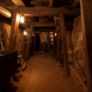 Image of the interior of a gold mine