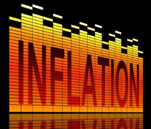 Multicolored graphic with the word Inflation