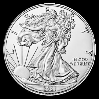 2021 1 oz American Silver Eagle Coin (BU, Type I)