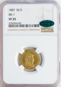 Obverse Slab 1807 Quarter Eagle