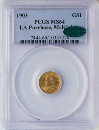 1903 McKinley $1 PCGS MS64 CAC