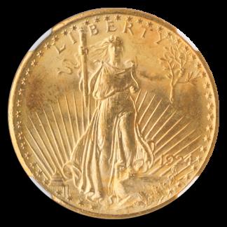 1924 $20 Saint Gaudens NGC MS66 CAC