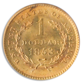 $1 Gold Type 1 Certified MS64