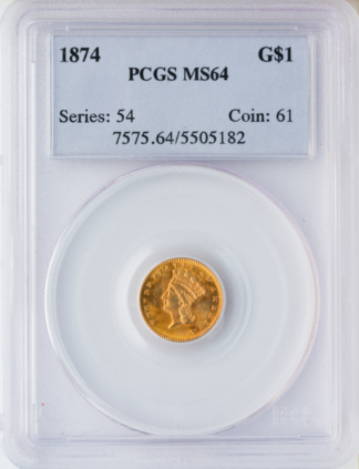 $1 Gold Type 3 Certified MS64