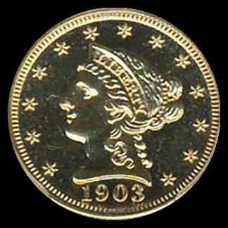 1903 $2 1/2 Liberty PCGS PR65 CAC