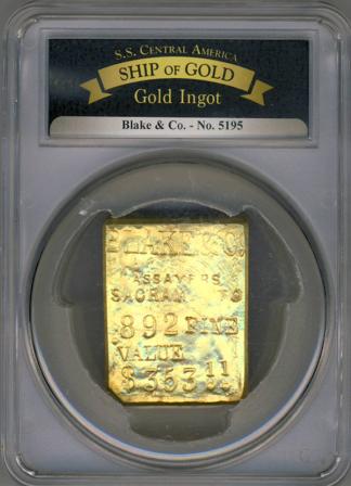 BLAKE GOLD BAR SSCA #5195 19.15 oz .892 Fine $353.11