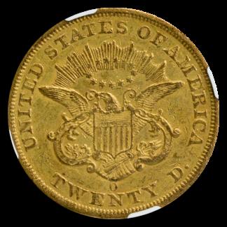 1851-O $20 Liberty NGC AU55