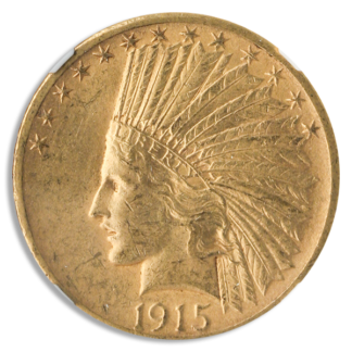 1915-S $10 Indian NGC AU58 CAC