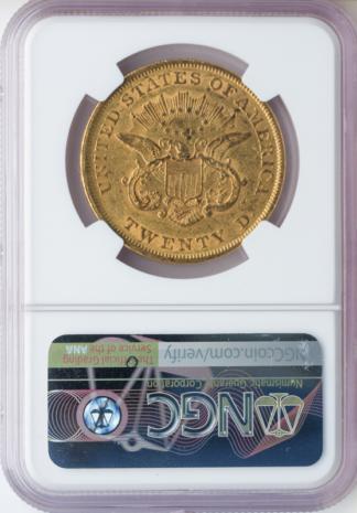 1853/2 $20 Liberty NGC AU55 CAC