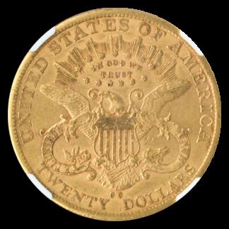 1885-CC $20 Liberty NGC AU53