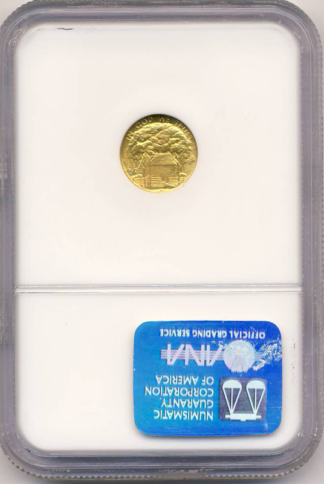 1922 Grant $1 Gold Commemorative With Star NGC MS67 CAC