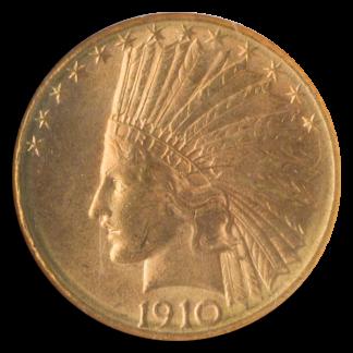 1910-D $10 Indian NGC MS64 CAC