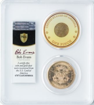 1857-S $20 Liberty SSCA Pinch Of Dust PCGS MS65 CAC