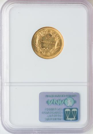 1854 $3 Gold NGC AU58