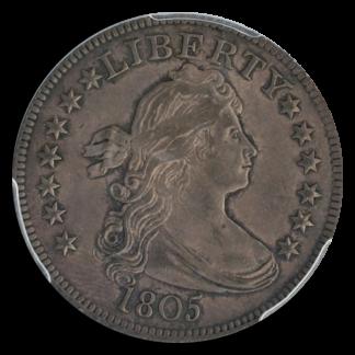 1805 Draped Bust Quarter PCGS AU58 CAC