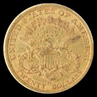 1877-CC $20 Liberty PCGS AU55 CAC