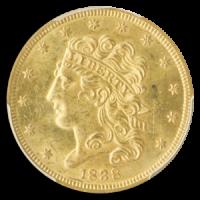 1838 Half Eagle Obverse