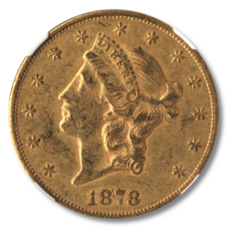 1878-CC $20 Liberty NGC AU50