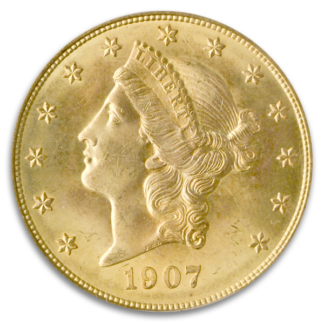 1907-D $20 Liberty PCGS MS65