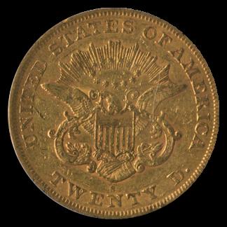 1866-S $20 Liberty Type 1 No Motto PCGS XF40 CAC