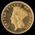 1880 $3 Indian Princess PCGS PR65 CAC Cameo