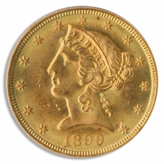 1899-S $5 Liberty PCGS MS64