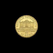 1/10 oz Austrian Gold Philharmonic Coin (BU, Dates Vary)
